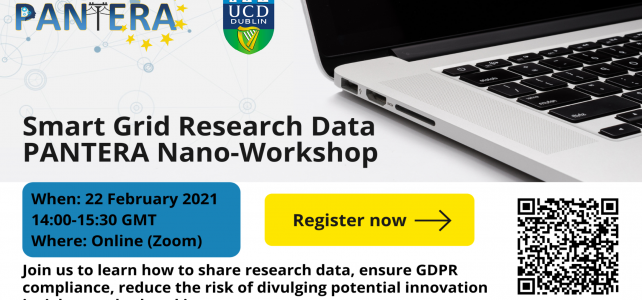 Register now for the Smart Grid Research Data PANTERA nano workshop