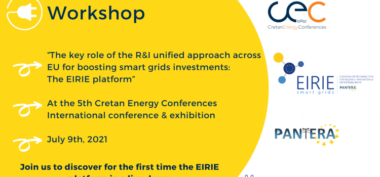 Save the date for the upcoming PANTERA nano workshop at the 5th Cretan Energy Conference